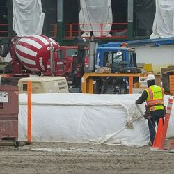 Work ongoing in the plaza -