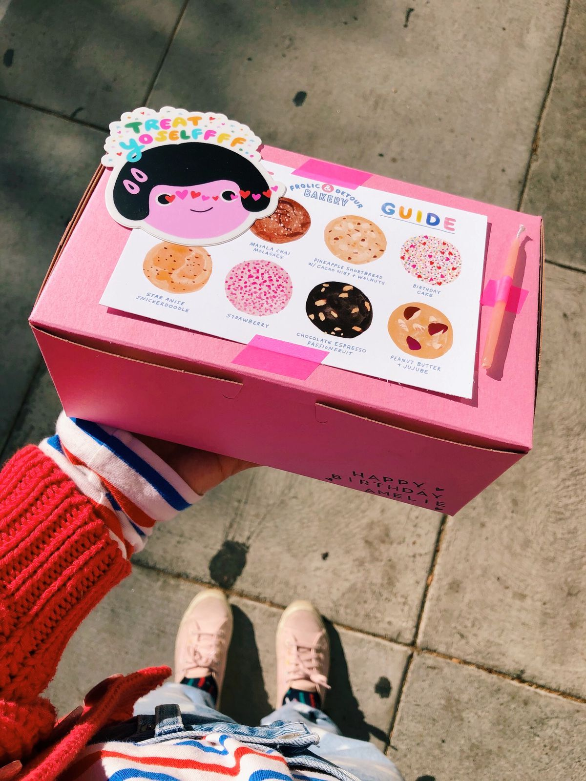 Cookie box with stickers from Frolic & Detour