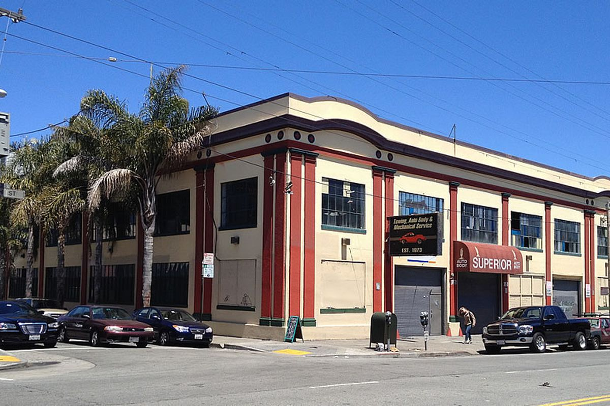 A photo of the old auto shop on 16th Street.