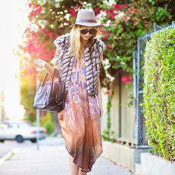 """Liz of <a href=""""http://www.lateafternoonblog.com""""target=""""_blank""""> Late Afternoon</a> is wearing a <a href=""""http://cynthiavincent.net/collections/top-6-fall-must-haves/products/embellished-faux-fur-vest-grey?siteID=QFGLnEolOWg-D65MvJV_pVautoU6RZA8FA&cynth"""