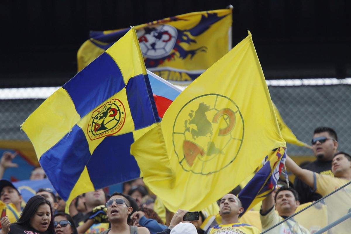 Club America fans in San Francisco for a friendly match against Manchester City last July.