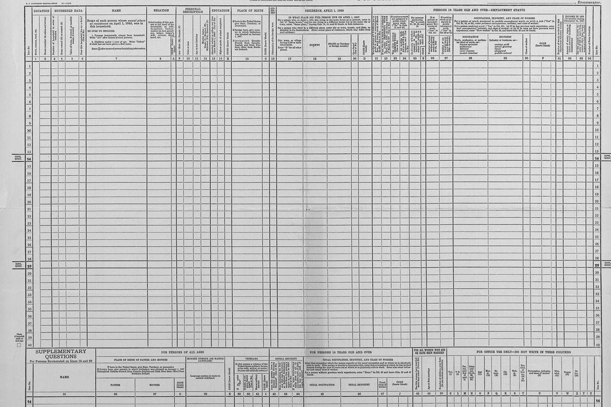 1940 census | Wikipedia public domain
