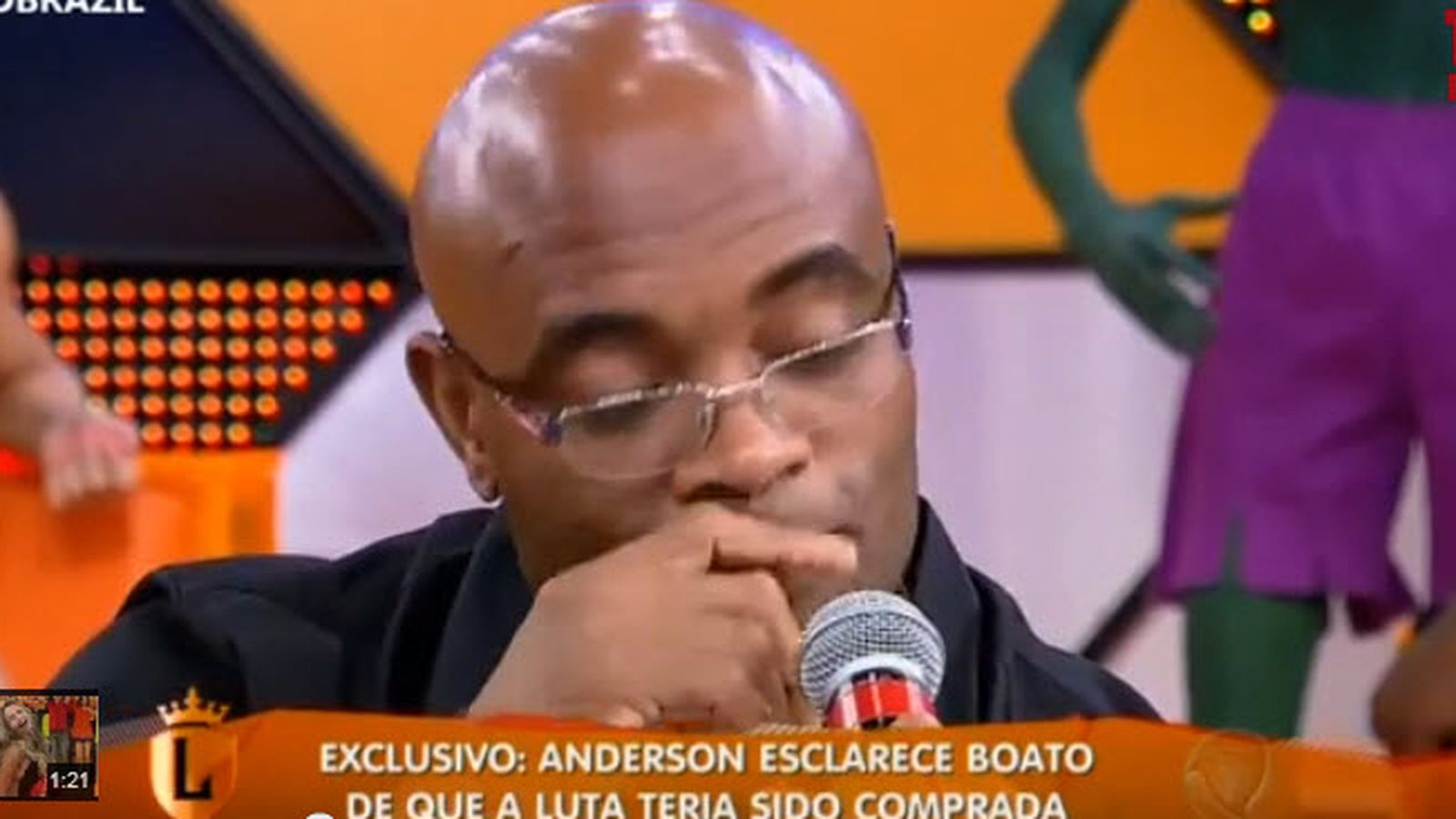 Anderson Silva weeps on Brazilian TV when asked about throwing Weidman fight at UFC 162