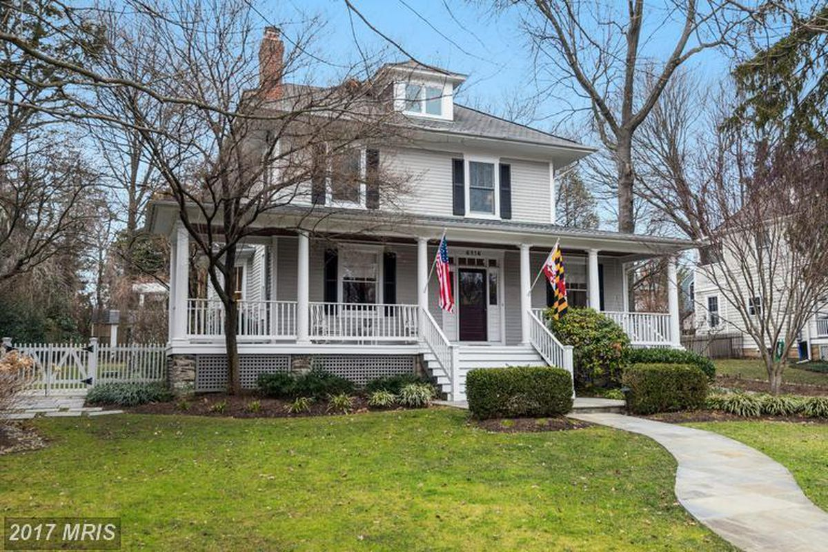 with curb appeal and a big backyard this chevy chase single