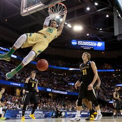 I am not getting tired of seeing this young man dunk all night.
