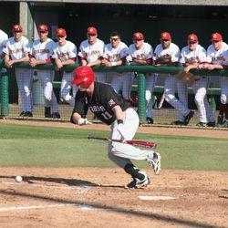 Husker Baseball: Rich Sanguinetti bunt
