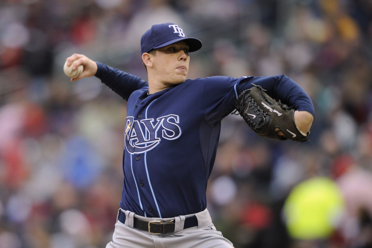 MINNEAPOLIS, MN - APRIL 28: Jeremy Hellickson #58 of the Tampa Bay Rays pitches against the Minnesota Twins during in the second inning of their game on April 28, 2011 at Target Field in Minneapolis, Minnesota. (Photo by Hannah Foslien/Getty Images)