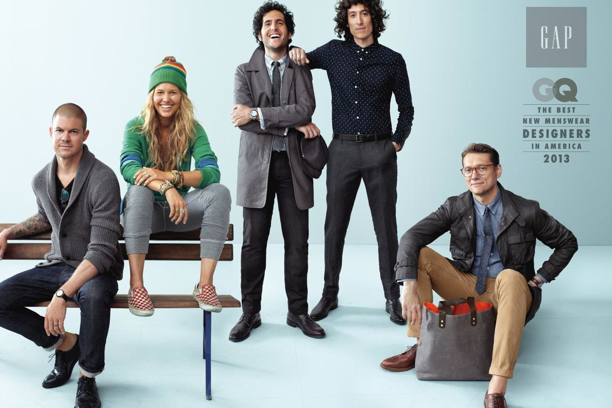 The designers wearing their collections, courtesy of Gap