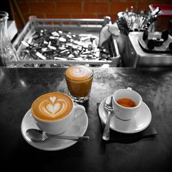 Cappuccino and macchiato with Greenway's Papua New Guinea blend; espresso from Singapore's Nylon coffee 3-bean blend at Blacksmith