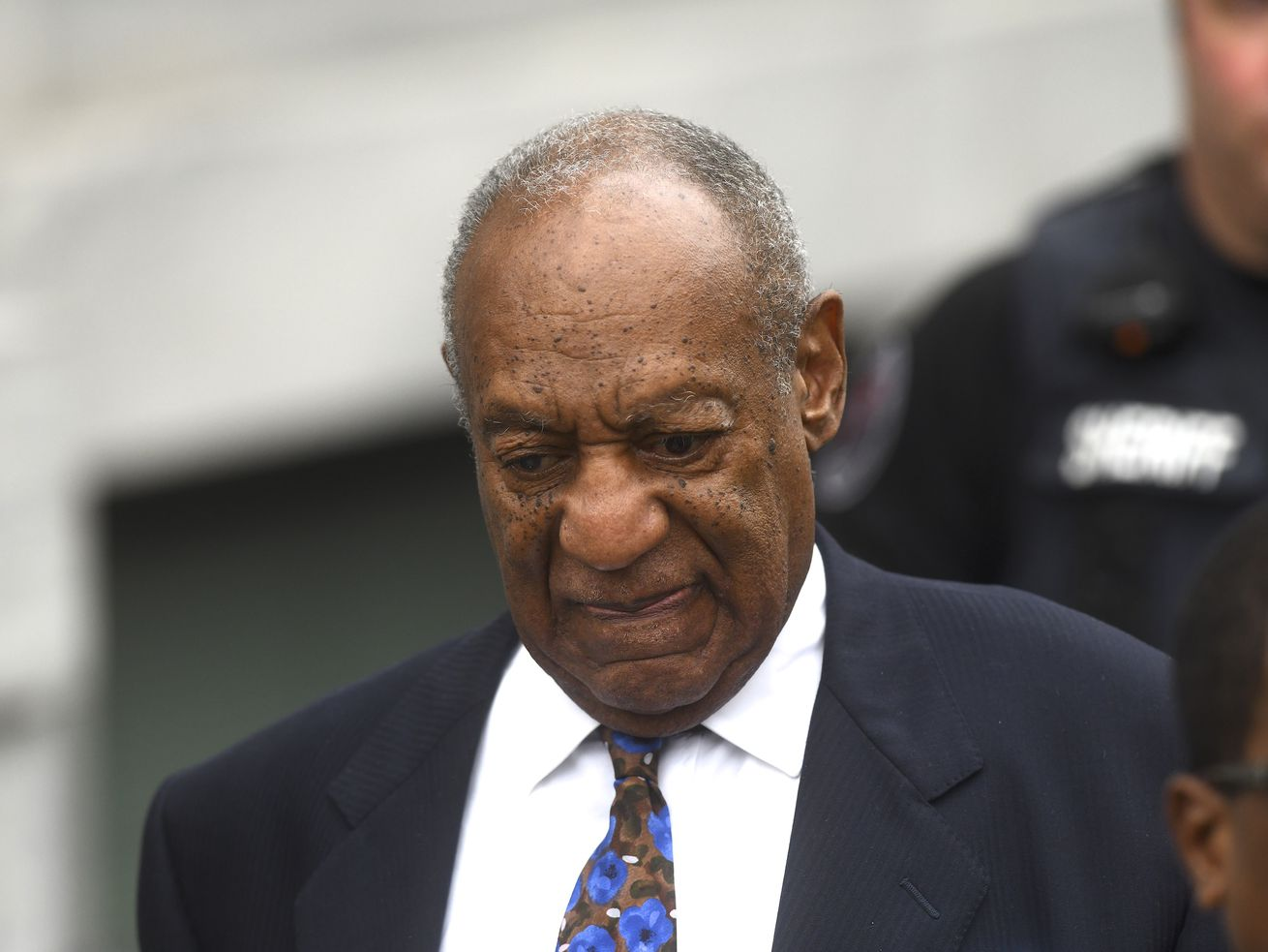 Bill Cosby leaves the Montgomery County Courthouse in Norristown, Pennsylvania, on September 24, 2018, the first day of his sentencing hearing.