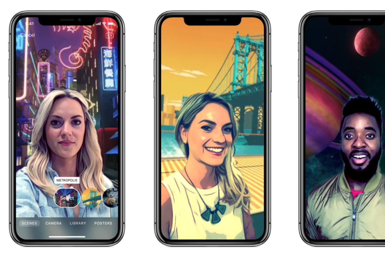 apple clips update uses iphone x s truedepth sensors for 360 degree selfie scenes