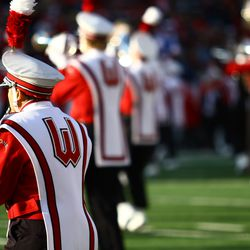 The Wisconsin Band plays before kickoff