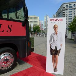 Don't miss the InStyle signage or the red carpet.