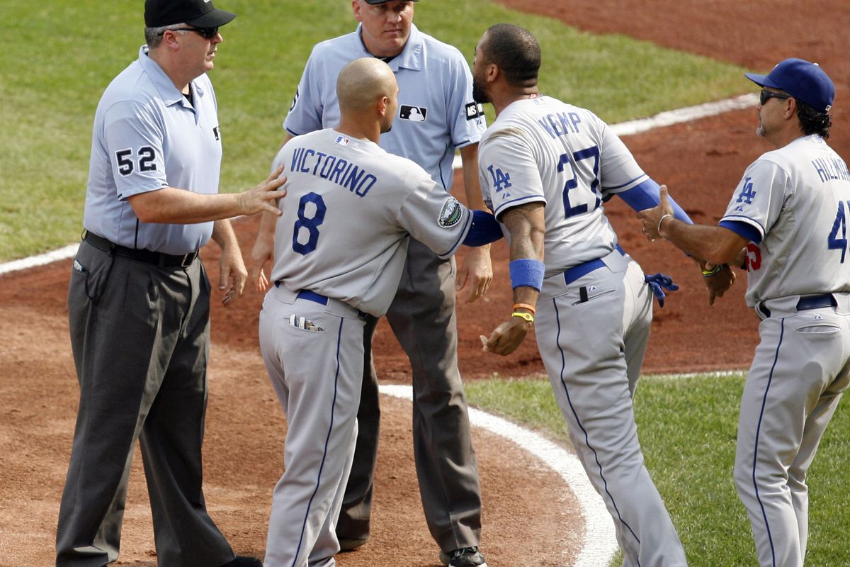 """Matt Kemp was mad when Angel Campos didn't follow up his """"Let's go Andre"""" with five claps."""