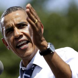 In this Aug. 28, 2012 file photo, President Barack Obama speaks in Ames, Iowa. Republicans and Democrats jockeyed for economic high ground in a Labor Day warm-up to the Democratic National Convention.