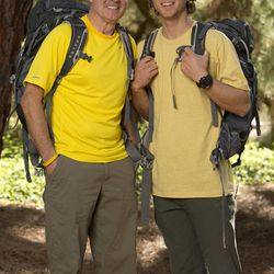 """Utah father-son team who are both cancer survivors Dave, left, and Connor O'Leary will be on the new season of """"The Amazing Race,"""" premiering Sunday, Feb. 23 on CBS."""
