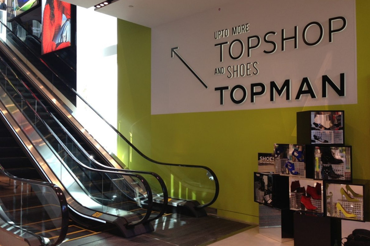 """From inside the new LA flagship, via <a href=""""http://la.racked.com/archives/2013/02/12/topshops_la_flagship_is_spacious_and_fully_stocked.php%22"""">Racked LA</a>"""