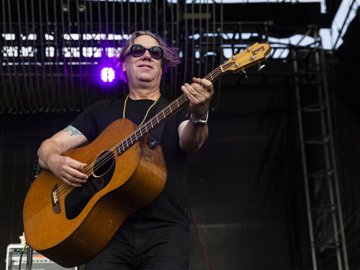 Brian Ritchie, of the Violent Femmes, performs on day one of Riot Fest, Friday afternoon, Sept. 13, 2019.
