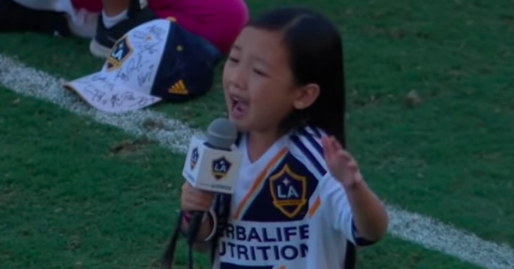 This 7-year-old?s performance of the national anthem will give you goosebumps