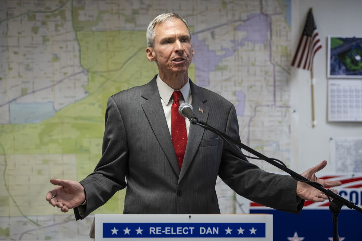 U.S. Rep. Dan Lipinski concedes the Democratic primary to Marie Newman during a press conference Wednesday at his election headquarters in Oak Lawn.