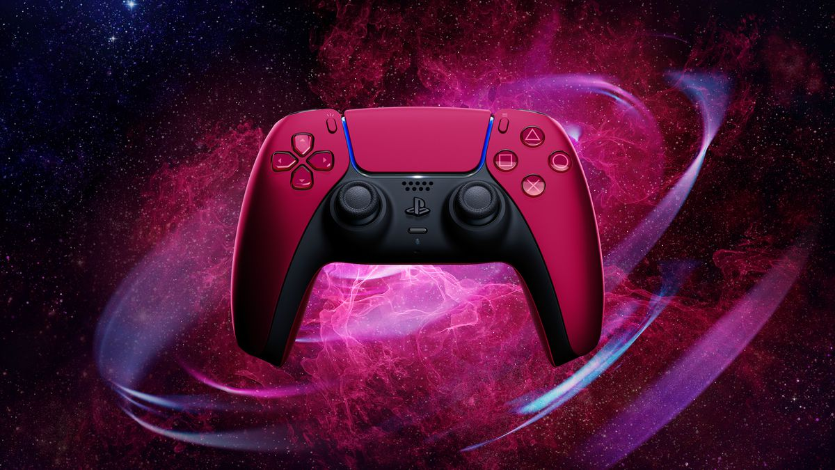 Sony's PlayStation 5 DualSense controller in Cosmic Red