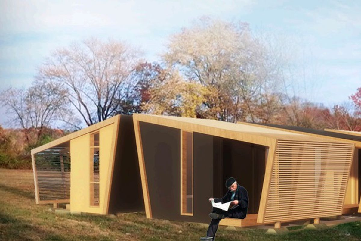 One Of The Genslder Designs For Upcoming Tiny Homes Rendering Courtesy Gensler