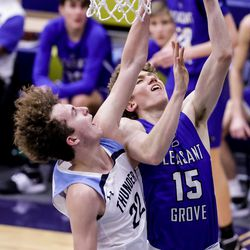 Westlake and Pleasant Grove compete in a boys basketball game at Westlake High School in Saratoga Springs on Friday, Jan. 29, 2021.