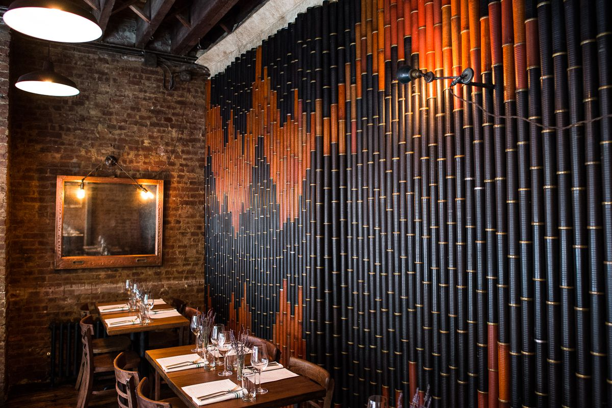 """[The dining room at Tuome in the East Village.  Sietsema <a href=""""http://ny.eater.com/2014/10/21/7028459/tuome-restaurant-review"""">gave it four stars</a>. This is a strong choice for a Thursday night meal downtown.]"""