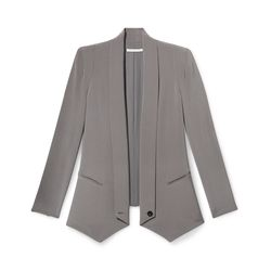 Long Becky jacket in charcoal, originally $378