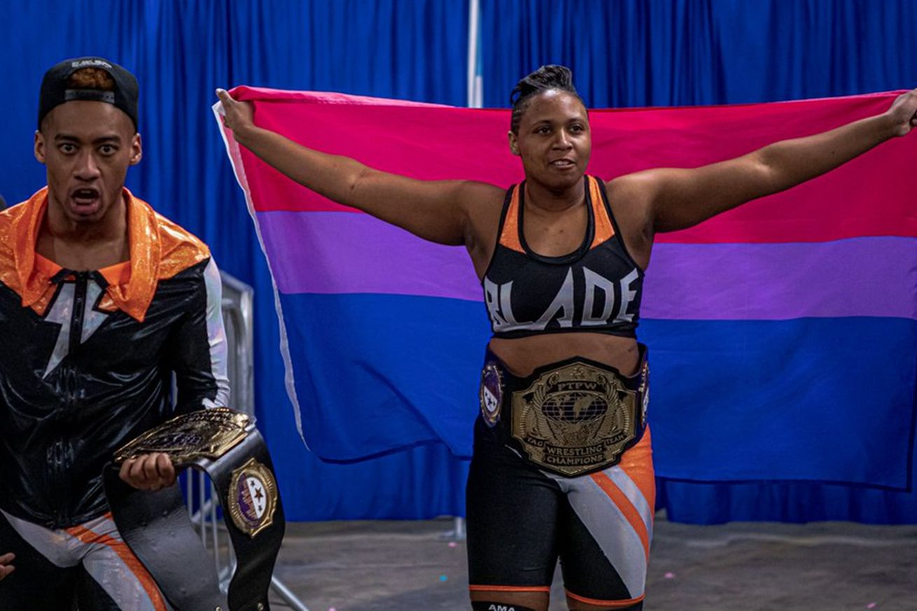 Celebrate Bi+ Awareness and visibility with these 10 awesome bi+ pro wrestling figures
