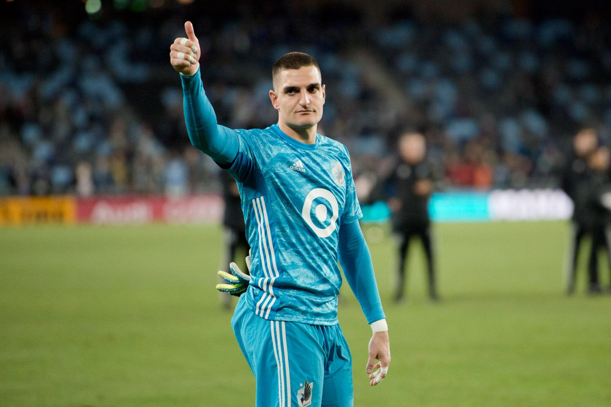 October 20, 2019 - Saint Paul, Minnesota, United States- Vito Mannone thanks fans after an Audi MLS Cup Playoff match between Minnesota United and The Los Angeles Galaxy at Allianz Field (Photo: Tim C McLaughlin)
