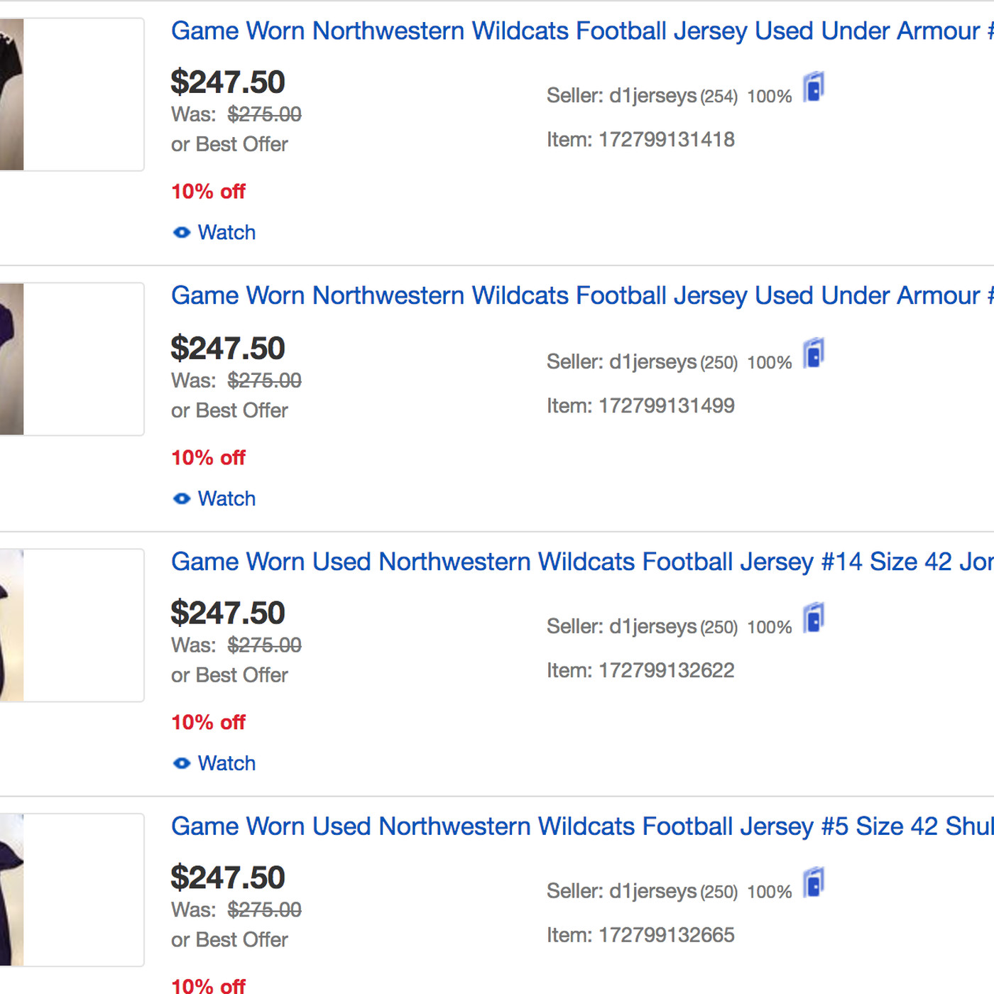The strange game-worn Northwestern sports memorabilia market on EBay -  Inside NU 8383c6de0