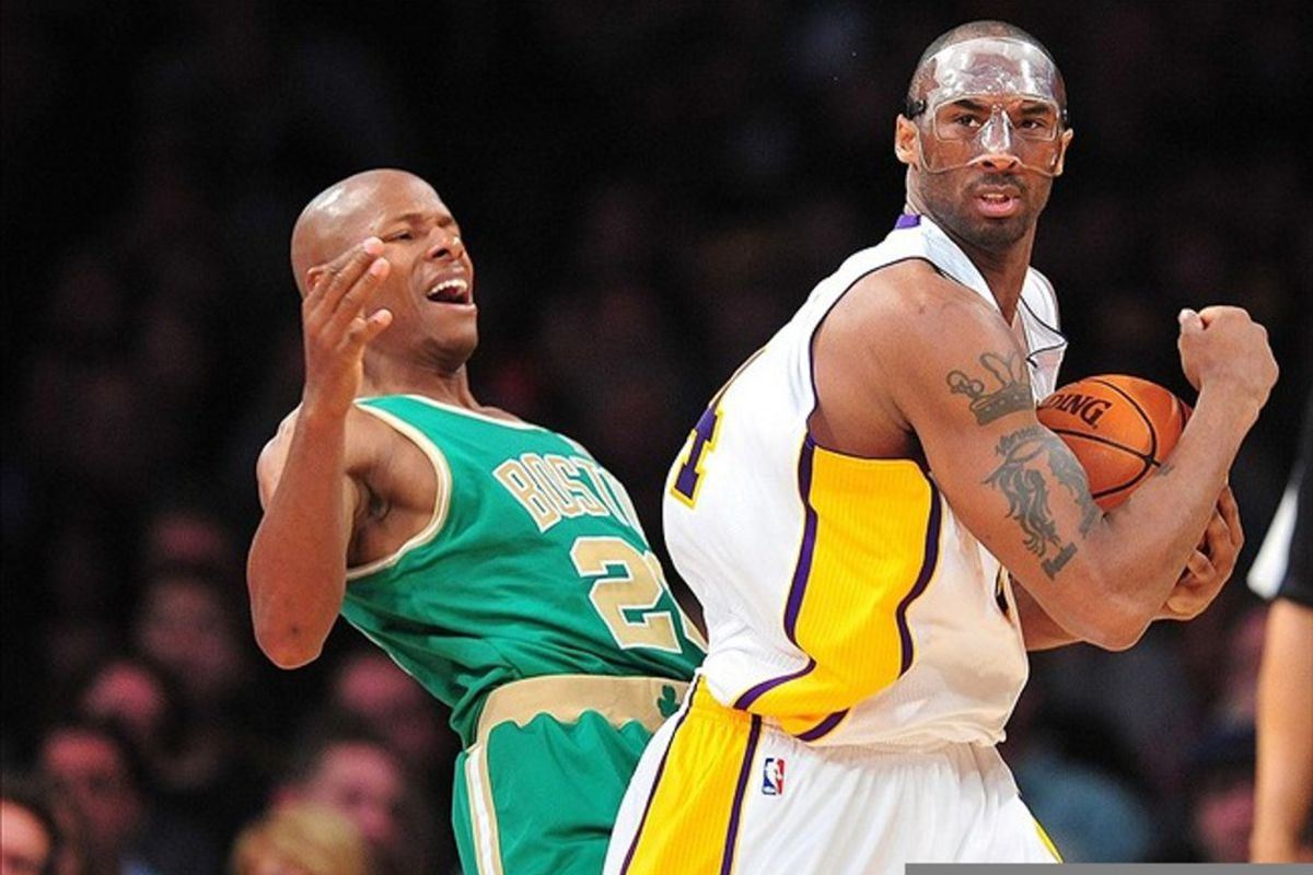 b1289586b Celtics Vs. Lakers  Kobe Bryant Fuels Late Push Past Boston ...