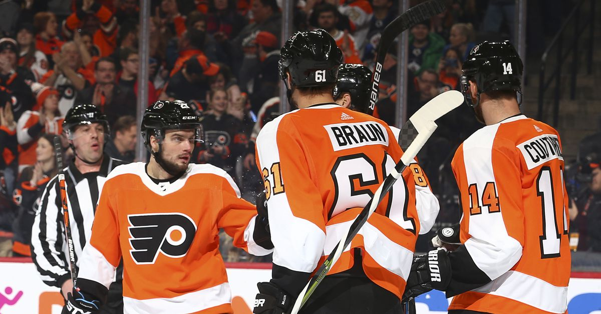 Laughton leads the way as Flyers take down Jets for third straight win