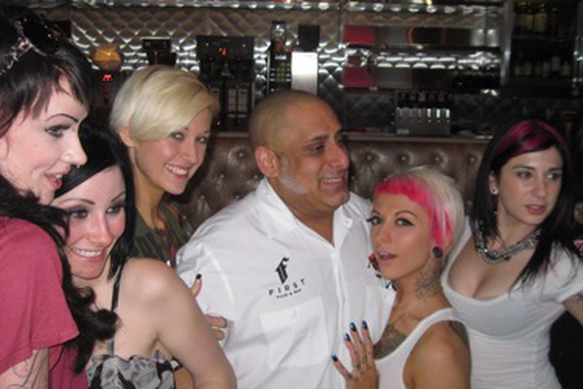 Chef Sammy DeMarco at the Burning Angel Brunch
