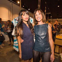 The night's hosts, Racked LA editor Natalie Alcala with Beckley owner/designer Melisssa Akkaway. (Both wearing Beckley by Melissa, 'natch.)