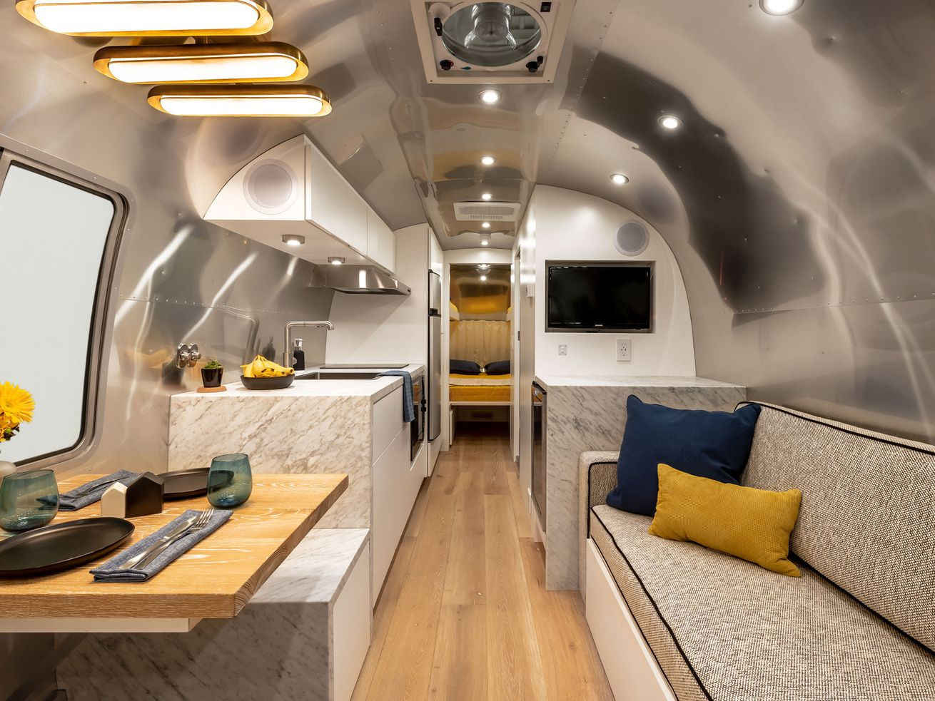 Renovated vintage Airstream is like a chic apartment on wheels