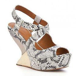"<i> <a href=""http://www.leifsdottir.com/shoes/kaisa-6314148783001/"" rel=""nofollow""> Kaisa Wedges in Roccia/Platinum </a></i>, $398"