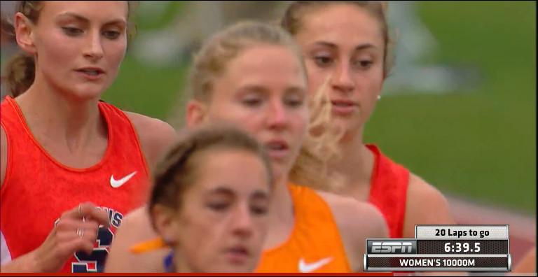 Runners in the NCAA women's 10k