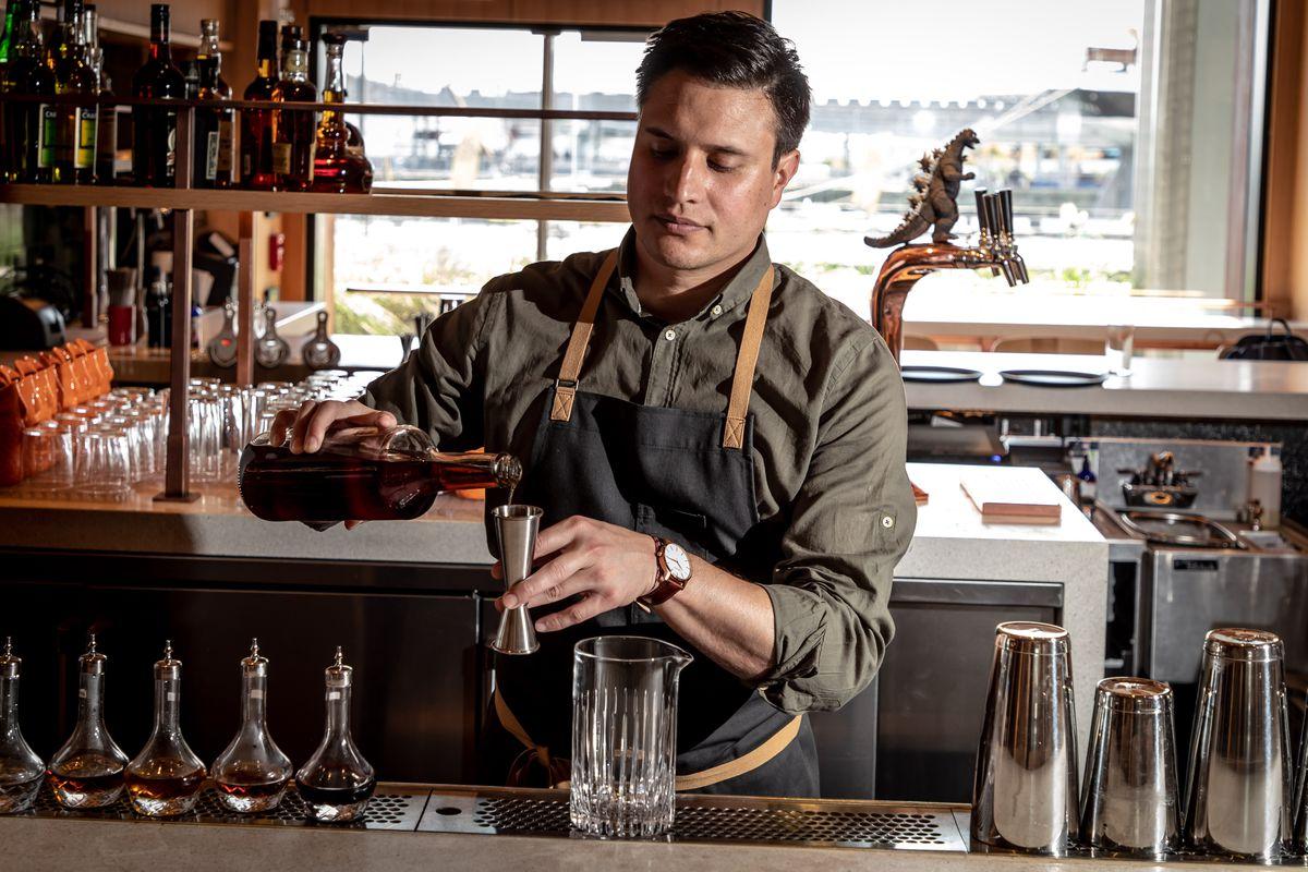 Momofuku beverage director Lucas Swallows at Bar Wayo