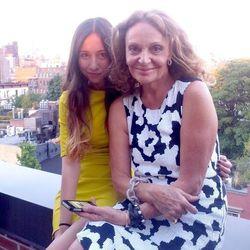 Amanda Rosenberg and Diane von Furstenberg
