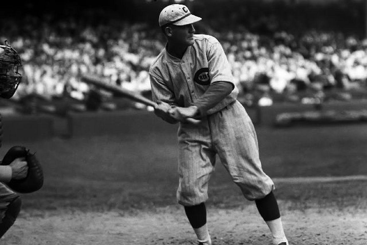Rube Bressler at the bat