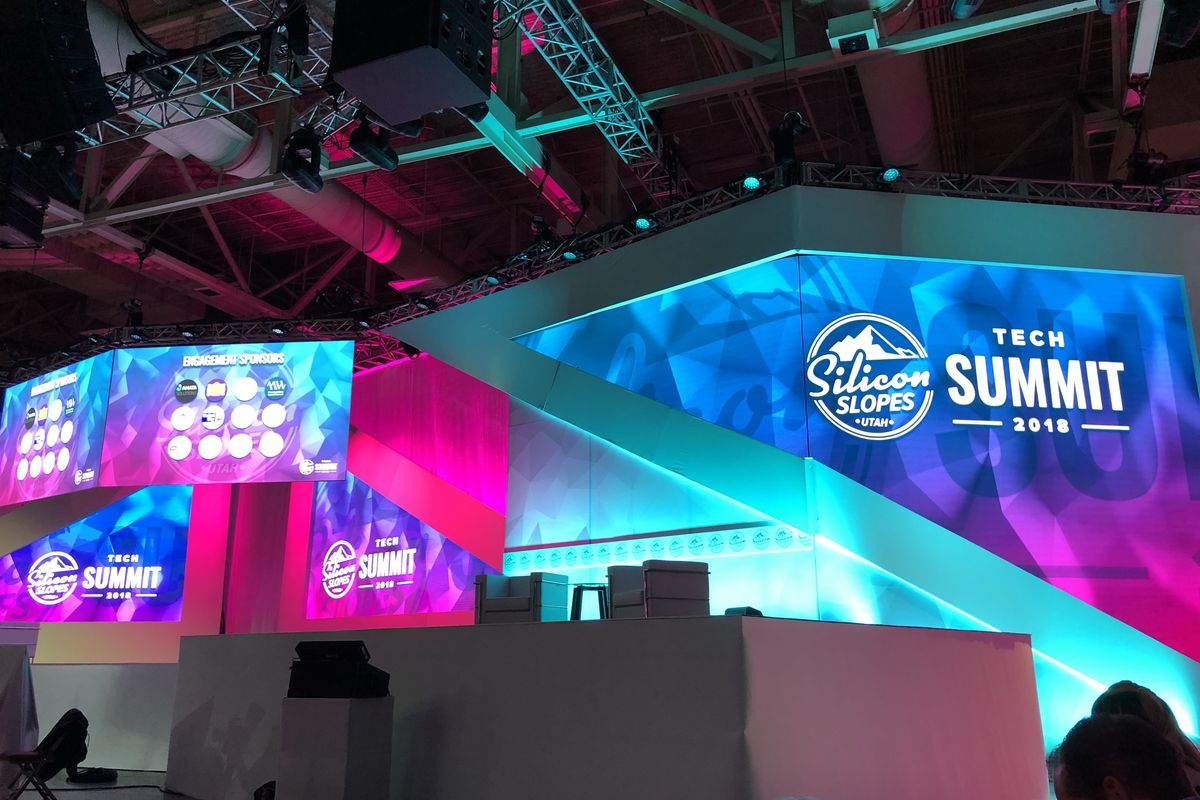 A look at the Silicon Slopes Tech Summit stage.