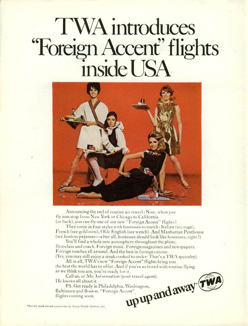 13 sexist vintage airline ads from the '60s: