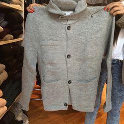 Sweater jacket, $150