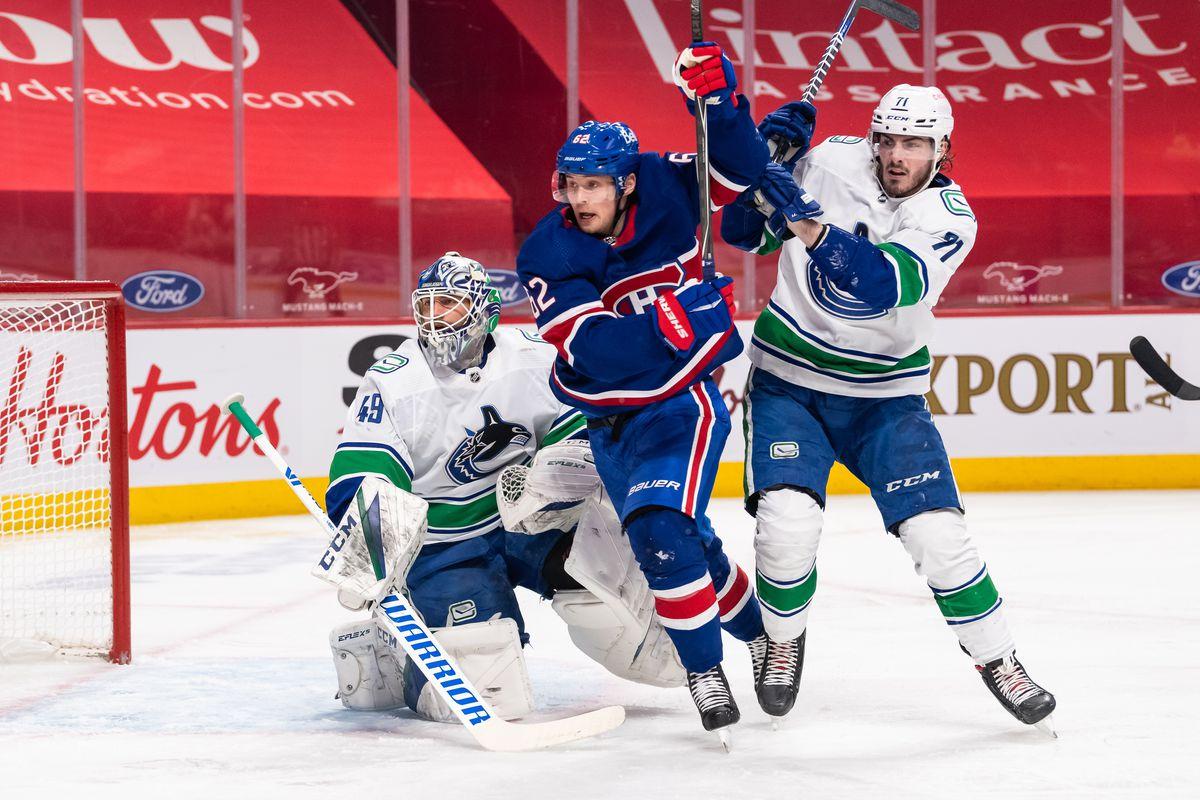 NHL: MAR 20 Canucks at Canadiens
