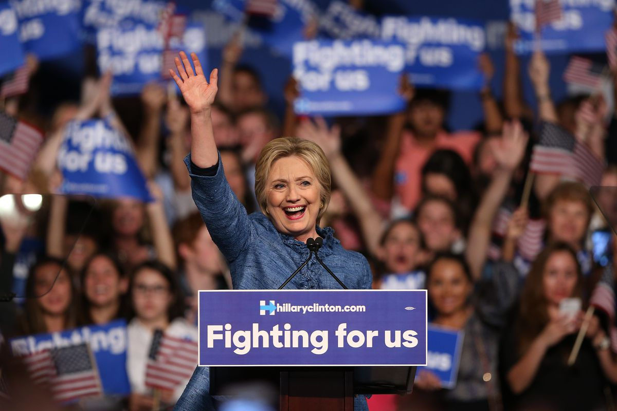 Democratic Presidential Candidate Hillary Clinton Holds Primary Night Event In Florida
