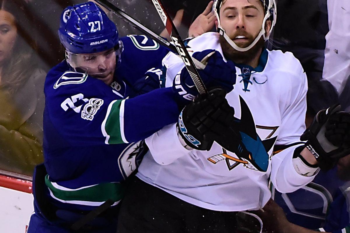 NHL: San Jose Sharks at Vancouver Canucks
