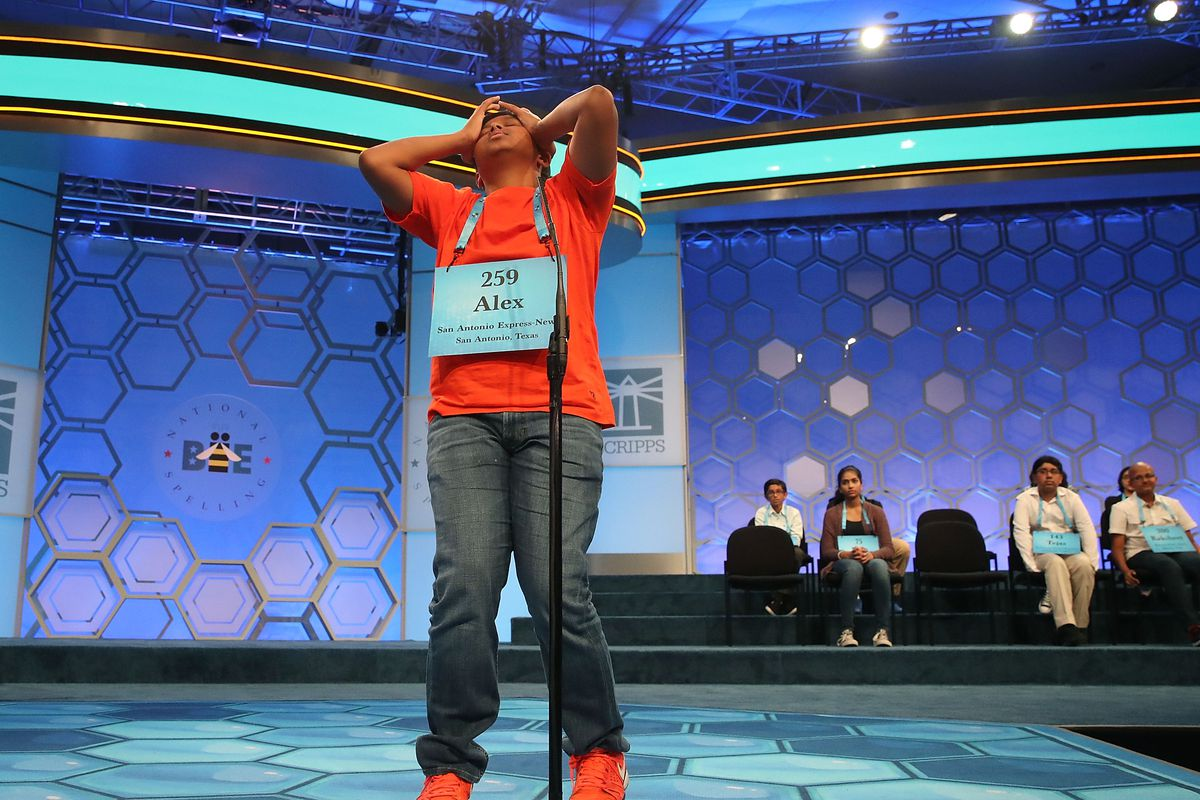 Students Compete In The Finals Of The Scripps National Spelling Bee