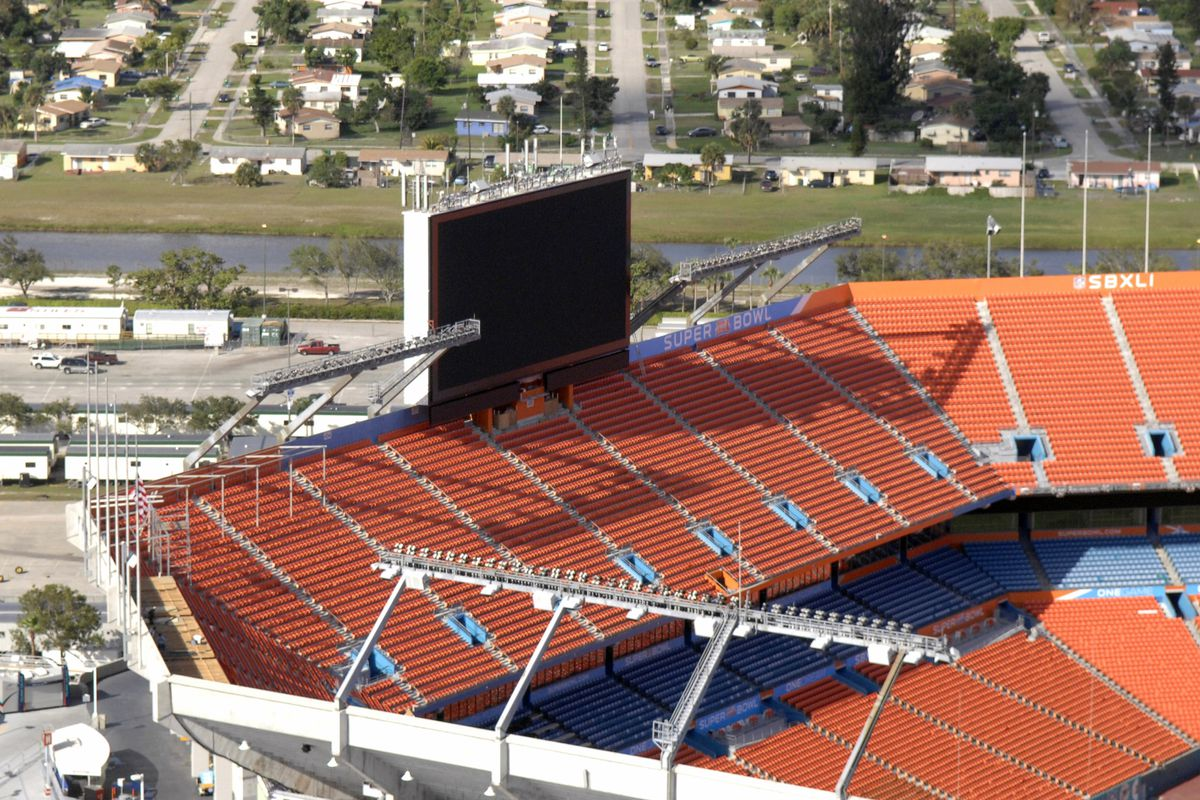 Aerial Photography of Dolphin Stadium - Site of Super Bowl XLI - January 18, 2007
